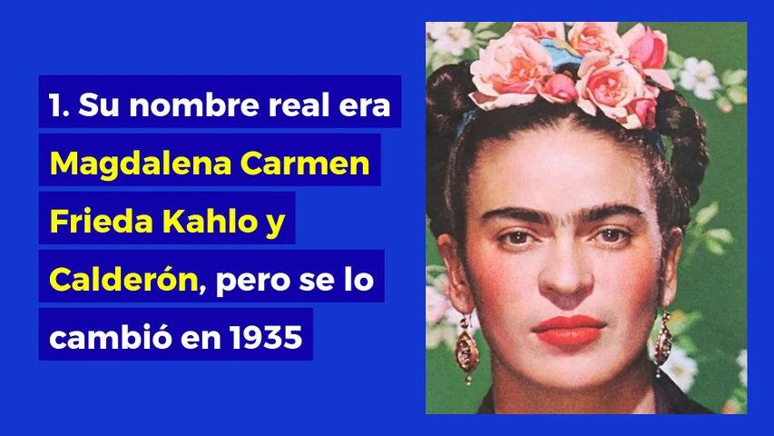 12 datos que no conocías de Frida Kahlo