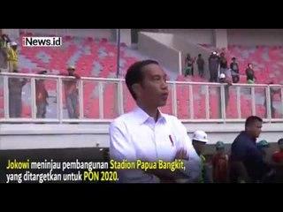 Jokowi Tinjau Pembangunan Stadion Papua Bangkit