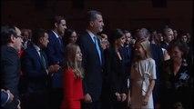 La Familia Real es ovacionada a su llegada a los Premios Princesa de Girona