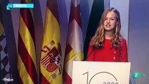 Así habla Leonor en catalán en su discurso en Girona