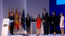 Larga y calurosa ovación al Rey y a la princesa Leonor en los premios Princesa de Gerona