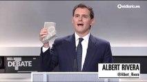 """Albert Rivera: """"Este adoquín representa la amenaza a la democracia española"""""""