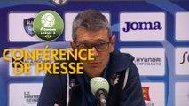 Conférence de presse Havre AC - AS Nancy Lorraine (1-1) : Paul LE GUEN (HAC) - Jean-Louis GARCIA (ASNL) - 2019/2020