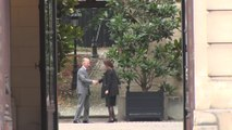 Le roi Philippe de Belgique accueille la première ministre belge, Sophie Wilmes