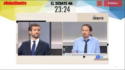 """Las """"mamadas"""" de Pablo Iglesias, en el #Debatómetro"""