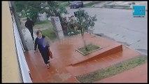 El video del momento en que un policía balea a un delincuente