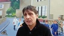 L'artiste Éric Haven parle de sa réfection de la fresque murale de Dieuze