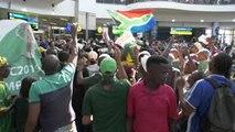 Afrique du Sud - Les Springboks accueillis en héros à Johannesbourg