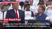 Rand Paul Calls For Media To Identify The Whistleblower At Trump Rally In Kentucky