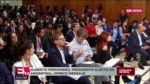 Mensaje del presidente electo de Argentina