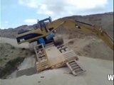 amazing heavy equipment accident - excavator accident - truck accident - crazy truck driver