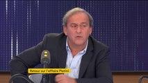 """On m'a """"fait passer pour Al Capone"""", se plaint Michel Platini, dont la suspension par la FIFA a été levée le 7 octobre dernier"""