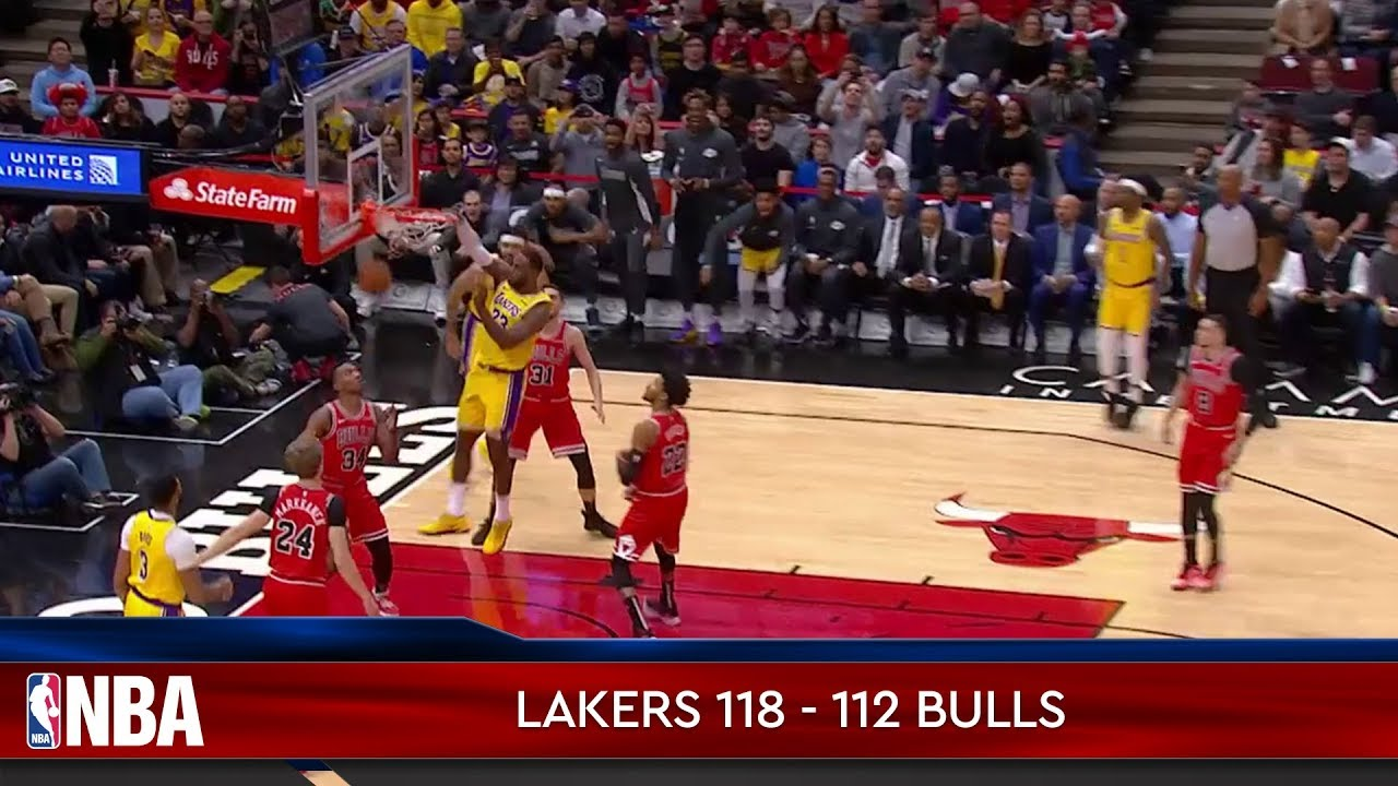 Los Angeles Lakers 118 - 112 Chicago Bulls