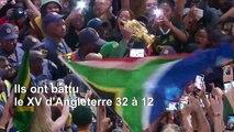 Les Springboks accueillis en héros dans une Afrique du Sud en crise