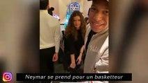 Neymar se prend prend pour un baskettteur
