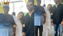 Sara Ali Khan poses with her two directors David Dhawan & Rohit Shetty   FilmiBeat