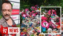 More frustration for nature lovers as Foodpanda bags and trash still in Gombak jungle