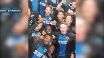 L'ambiance de folie dans le vestiaire de Bruges après la raclée infligée au PSG