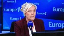 """Mesures du gouvernement sur l'immigration : """"une escroquerie politique, un enfumage assez traditionnel"""", selon Marine Le Pen"""