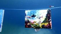 Fethiye'de denizaltında resim sergisi