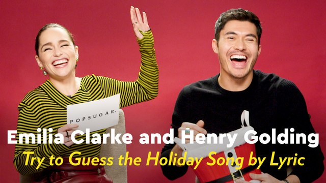 All We Want For Christmas Is This Video of Emilia Clarke and Henry Golding Singing Holiday Songs