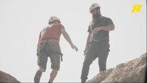 الجزائري سفيان بلهاني يتسلق الجبال في عيش الدور