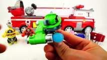 Paw Patrol Ultimate Rescue Firepups Toys Transform by Matching Wrong Bath Heads in Color Water