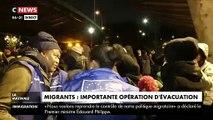 Camps de migrants à Paris : Des centaines de personnes en train d'être évacués depuis 6h ce matin au Nord Ouest de Paris