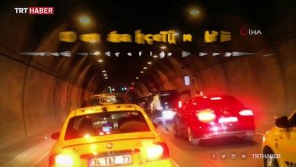 İstanbul'da asker konvoyu tüneli trafiğe kapattı