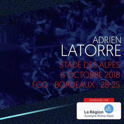 Video : Video - L'essai d'Adrien Latorre face à Bordeaux en 2018
