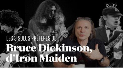 Les 3 plus grands solos de guitare pour Bruce Dickinson d'Iron Maiden