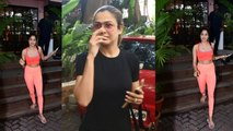 Spotted: Janhvi Kapoor & Amrita Arora at Antigravity Gym in Bandra