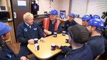 Boris Johnson visits Tetley factory