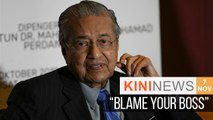 Dr M: Zahid should blame his boss for stealing and losing in GE14 | Kini News - 7 Nov