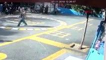 avcılar'da okul bahçesindeki dehşet anı kamerada