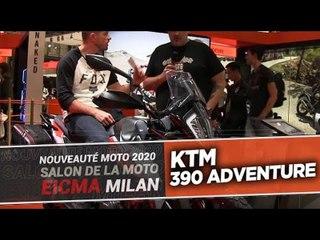 KTM 390 Adventure - nouveautés moto 2020 - EICMA 2019