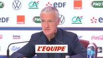 Deschamps «Giroud est là parce que j'ai confiance en lui» - Foot - Qualif. Euro - Bleus