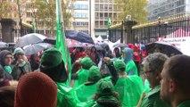 Manifestation devant le cabinet du Ministre-Président bruxellois dans le cadre de la grève des travailleurs des 19 Communes, CPAS, hôpitaux publics
