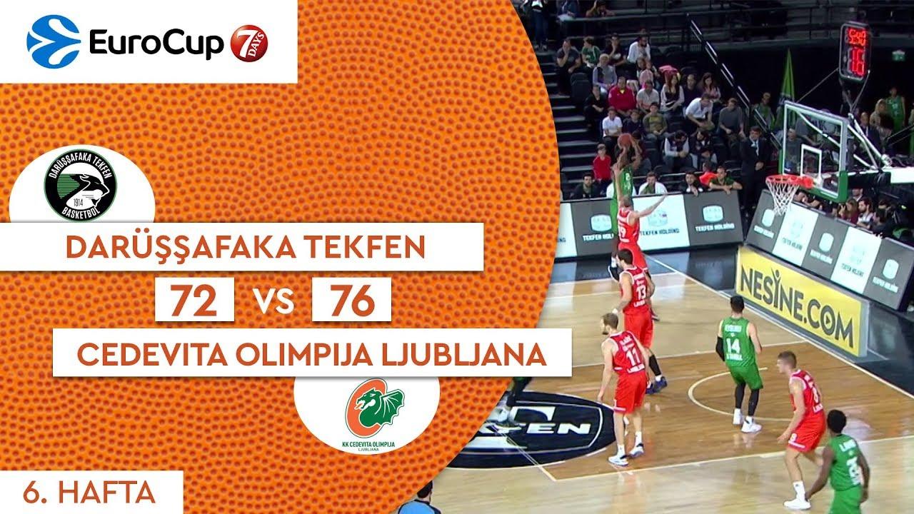 Darüşşfaka Tekfen 72 - 76 Cedevita Olimpija Ljubljana | Maç Özeti - EuroCup 6. Hafta