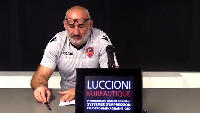 J13 - le point presse du coach F. Ciccolini avant le déplacement à Laval