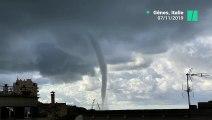 Deux impressionnantes trombes d'eau ont parcouru le ciel de Gênes