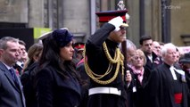 Prince Harry and Meghan Markle Attend Westminster Abbey's Field of Remembrance
