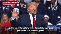 Trump Stirs Up 'LSU' Chant At Louisiana Tally, Gets Alabama 'Boos'