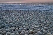 Bolas de gelo do tamanho de ovos cobrem praia da Finlândia