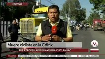 Ciclista muere atropellada por tráiler en Azcapotzalco