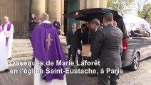 Obsèques de la chanteuse et actrice Marie Laforêt à Paris
