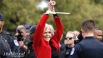 Jane Fonda Talks Her Night in Jail After Fourth Arrest in D.C. | THR News