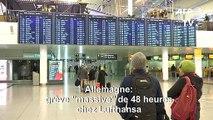 """Allemagne: grève """"massive"""" chez Lufthansa, des centaines de vols annulés"""