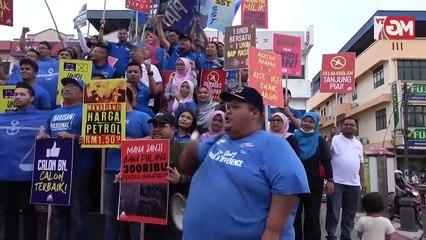 TERKINI  Flash Mob Hancur PH  Tolak PH - Pemuda BN MCA Puteri UMNO