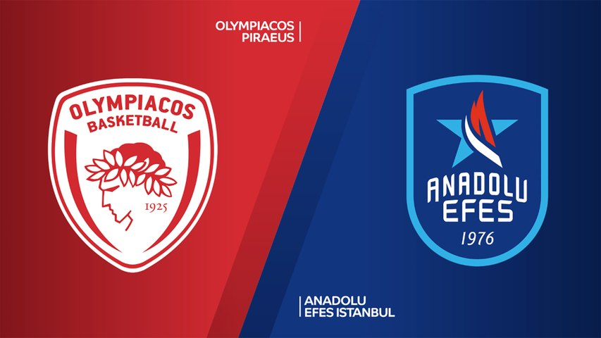 Olympiacos Piraeus - Anadolu Efes Istanbul Highlights | Turkish Airlines EuroLeague, RS Round 7